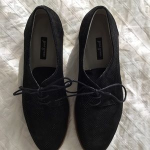 Paul Green Black SHIMMER Finley Oxfords 6.5